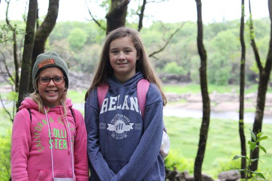 Alexis Jordan and Lyric Fisher at Coole Lough.
