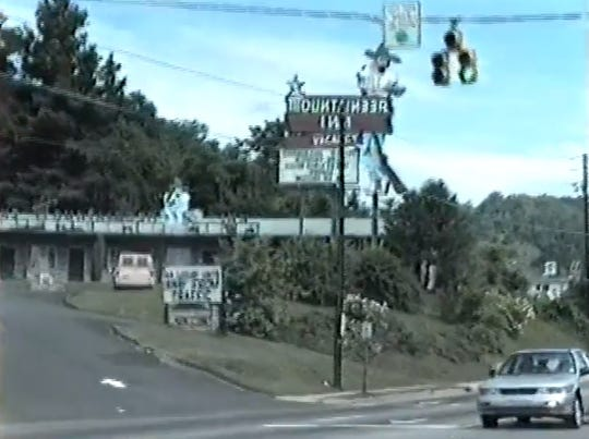 A view of the Mountaineer Inn on Tunnel Road in Asheville taken from a July 1989 video shot by Lynchburg, Virginia resident Kipp Teague.