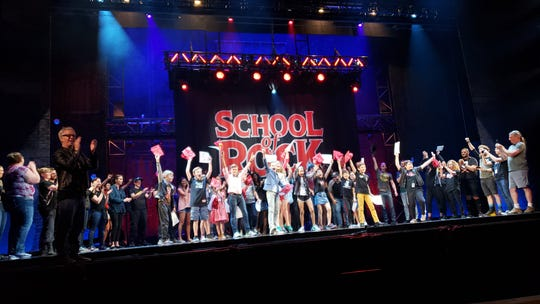 """The National Tour of """"School of Rock"""" held a graduation before the tour's final matinee on June 9 in San Jose, California."""
