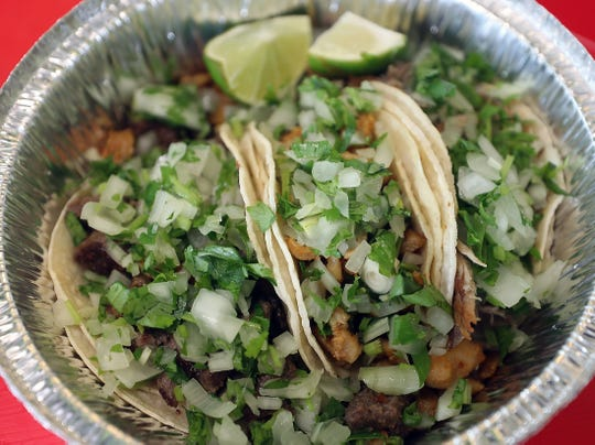 Carne asada tacos are among the many menu items featured at Aceitunos, a family-owned chain of Mexican restaurants throughout Puget Sound.