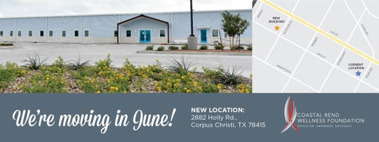 The Coastal Bend Wellness Foundation Foundation moves to a new building at 2882 Holly Road.
