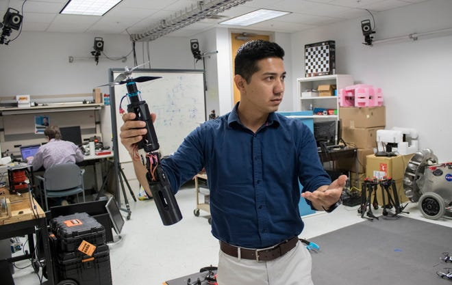 Jose Baca, assistant engineering professor at Texas A&M University Corpus Christi, talks about how unmanned aircraft system engineering project could be used in space for NASA.