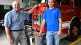 Father and son, Drew and Ryan Sole, talk about being firefighters for the Wenonah Volunteer Fire Company.