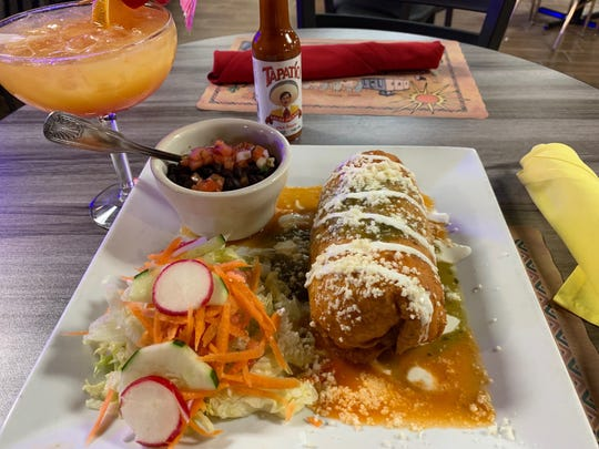A Steak Chimichanga is an example of the generous-sized entrees at Los Jalapenos Bar & Grill.