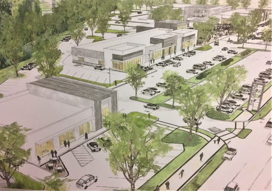 A rendering shows the proposed Shoppes at Voorhees.