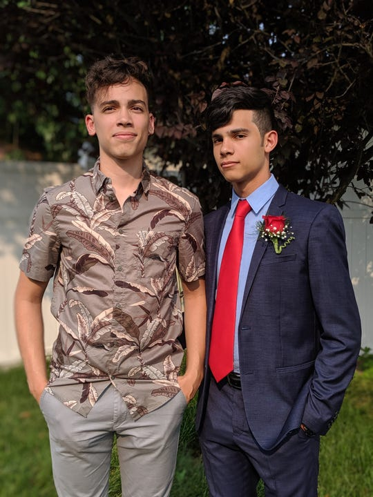 The Estevez brothers of Pennsauken are back-to back valedictorians at  Pennsauken High School. Dairon, right, is this year's top academic student while  Ronald is the 2018 valedictorian.
