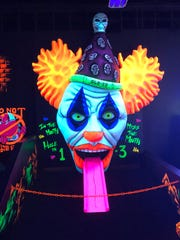 Glo-Zo the clown is the last hole at Monster Mini Golf in Cherry Hill.