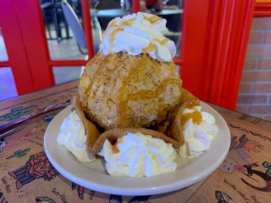 Fried ice cream is a dessert that begs to be shared at Los Jalapenos Bar & Grill in Haddon Township.