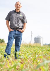 Ross County Farm Bureau president and farmer Greg Corcoran stands in his newly planted corn field in Chillicothe, Ohio, on June 12, 2019. Corcoran is a fifth-generation farmer with farms in Ross, Pike, and Scioto Counties.