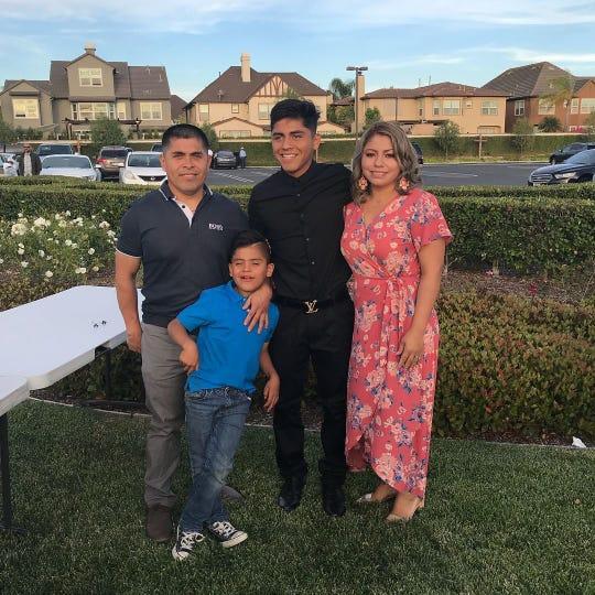 The Amaya family (Left to right), Franuel Amaya, Jake Amaya, Frankie Amaya and Norma Garcia.