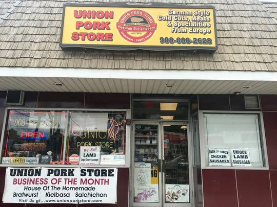 Outside the Union Pork Store.