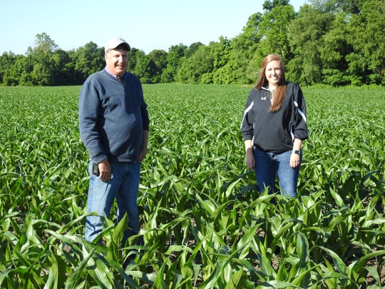 Steve and Kayla Finton farm 1,200 acres of corn and soybeans on County Road 170. They've had the farm since 1970. They know farmers elsewhere in Ohio got hit hard by weather this year and Coshocton County farmers have been lucky, but factors like weather and wildlife are still important to having a good year.