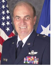 """Brig. Gen. Douglas Pierce was named by Norwalk as a """"superhero"""" at the city's recent State of the City address. Pierce served most of his 40-year career as a fighter pilot. He also served as Norwalk's mayor after retirement."""