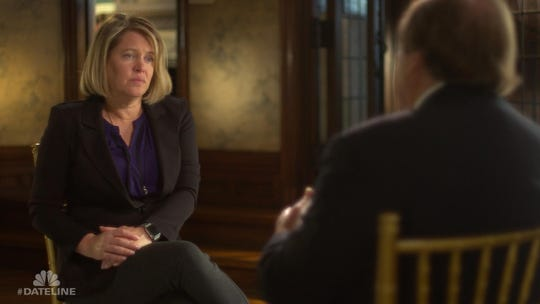 "Defense attorney Christine Branstad is interviewed by ""Dateline NBC"" for its second show focused on the 2015 death of Shirley Carter. The show, called ""Return to the Farm,"" airs Friday, June 14, 2019. Photo provided by ""Dateline NBC."""