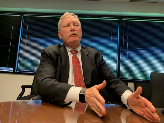 Former Special Agent in Charge for the FBI's Omaha Division Randy Thysse, 56, said May 22, 2019 in his West Des Moines office that he is happy to moving on from the Bureau so he can be around his family more. But he said he'll miss the camaraderie and duty of working for the FBI.