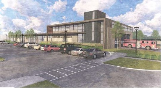 An artist's rendering of what the new Clive Public Safety building could look like.