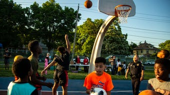 Summer city hoops kicks off a new season with permanent lights in Evelyn K. Davis Park