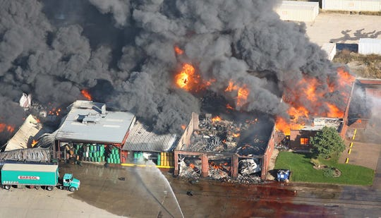Major glitches hampered metro departments battling a large, volatile fire at the Barton Solvents chemical plant, north of Des Moines, in 2007. Polk County Supervisor Tom Hockensmith said first responders had to use cell phones because their radios would not talk to one another.