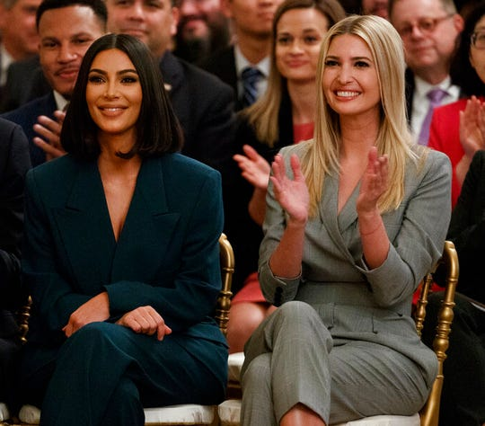 Ivanka Trump applauds as Kim Kardashian West is introduced during an event in the East Room of the White House, Thursday, June 13, 2019, in Washington. Trump took in nearly $4 million in revenue last year from her stake in President Donald Trump's hotel down the street from the Oval Office.