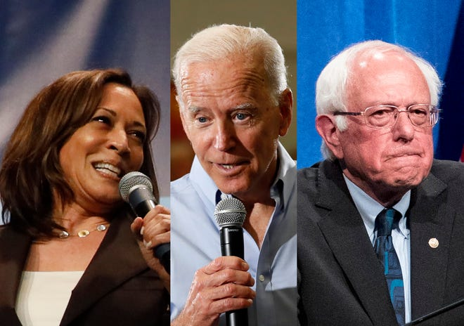 Democratic front-runner Joe Biden will face Senators Bernie Sanders and Kamala Harris in the second night of the party's two-part presidential primary debate in Miami later this month.