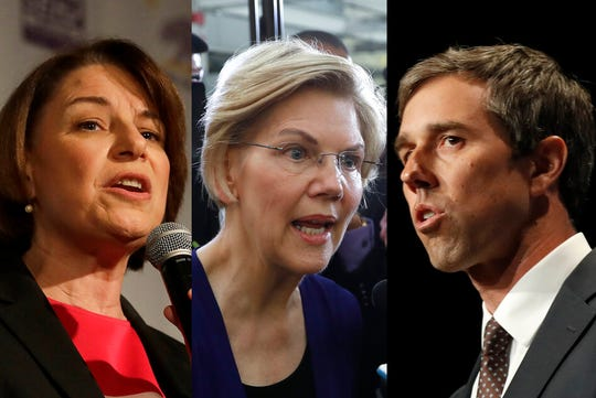 Senator Elizabeth Warren will appear on the first night of the Democratic debates matched against former Representative Beto O'Rourke and Senator Amy Klobuchar of Minnesota.