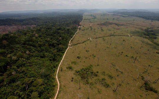 This Sept. 15, 2009 file photo shows a deforested area near Novo Progresso in Brazil's northern state of Para.