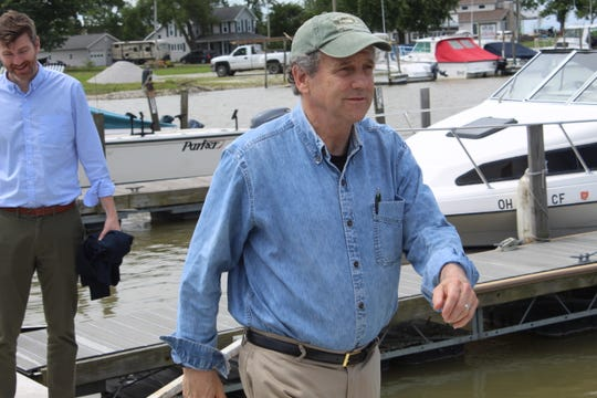 U.S. Senator Sherrod Brown visited Carroll Township Friday and took a trip on a charter boat to get a closer look at Lake Erie. Brown heard from scientists, fishermen, elected officials and real estate agents about the impacts of harmful algal blooms, coastal flooding and shoreline erosion on local communities.