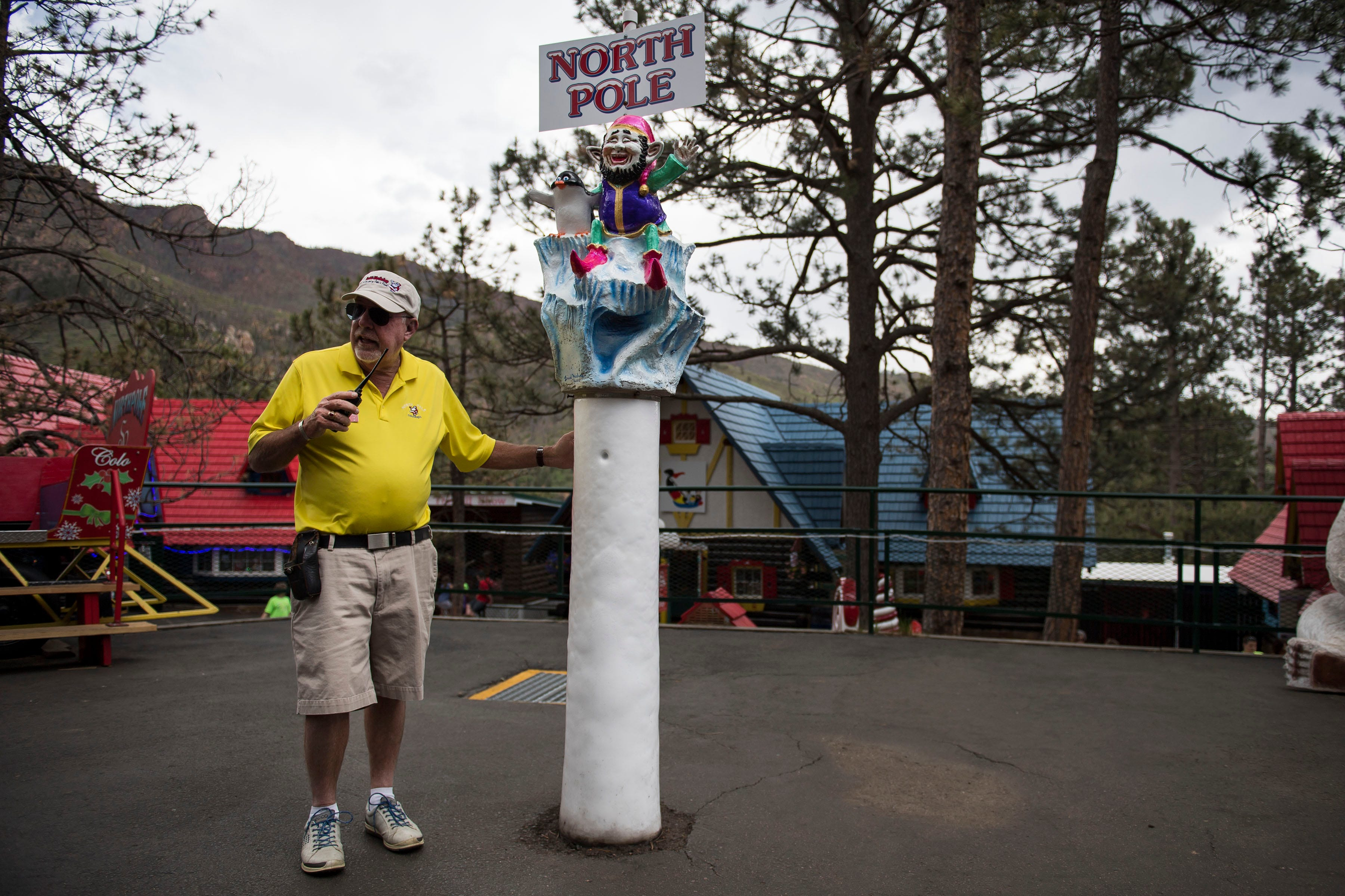 Santa's Workshop at The North Pole amusement park. Owner and president Tom Haggard watched a 2012 wildfire approach.