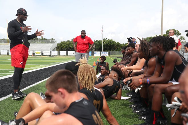 Deion Sanders' Prime TRUTH football team played scrimmages against the Lee County All Stars and the Mississippi GRIND at Bishop Verot High School on Friday.