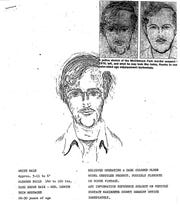 A police sketch of a suspect created shortly after the 1976 murders of David Schuldes and Ellen Matheys in Marinette County. Prosecutors in March charged 82-year-old Lakewood resident Raymand Vannieuwenhoven the killings after  investigators used DNA and genetic genealogy to connect  him to the killings.