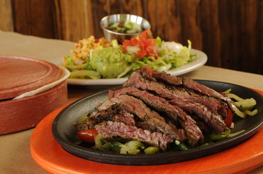 Steak fajitas from Sombra Mexican Kitchen in Ridgeland.