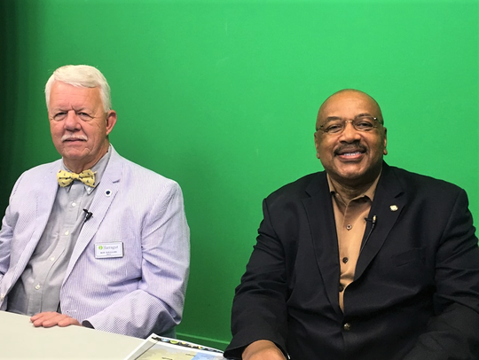 Mayor Ron Williams and veteran broadcaster Hubert Smith discussed Farragut's government during an interview in the CTK studio on May 30. The politically savvy Smith runs the Motley Crew lunches, bringing business leaders and politicians past and present together to swap news and ideas.