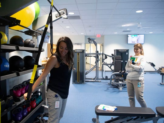 Amy Gatto and Tatiana Chambers explore Discovery's new fitness center on Thursday, June 13, 2019.
