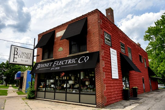 Bohnet Electric Co. is closing its lighting showroom after 113 years of business. The current building is seen photographed on Wednesday, June 12, 2019, in Lansing.