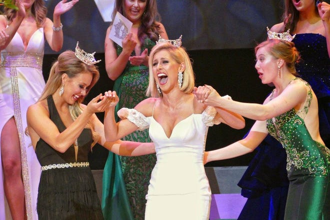 Miss Montgomery County Caroline Grace Williams, 24, of Cincinnati, won the Thursday night preliminary talent award at Miss Ohio Scholarship Program at the Renaissance Theatre in Mansfield.