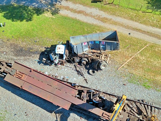 A garbage truck and train crashed into each other on Thursday at the intersection of Poplar Pike and Forrest Hill Irene. The truck driver was airlifted to Regional Medical Center.