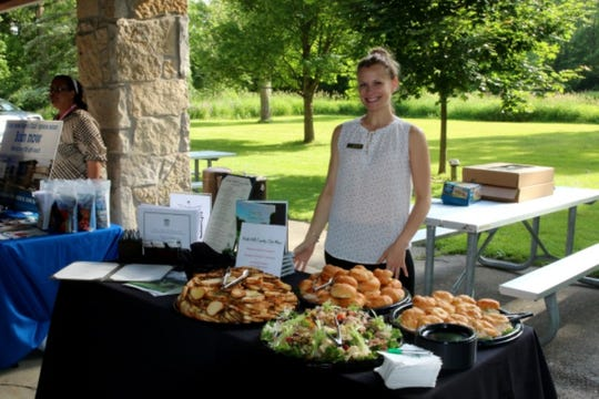 Abby Haak provided food samples at the North Hills Country Club table at a previous Party in the Park - A Taste of the Falls in Menomonee Falls. This event will take place Thursday, June 20, at Rotary Park, N86W14230 W. Fond Du Lac Ave.