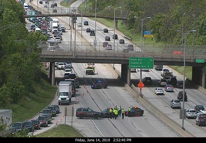 All lanes of I- 43 southbound were closed at the Locust Street exit as the Milwaukee County Sheriff's Office conducted an investigation.