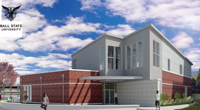 The planned new Multicultural Center at Ball State University is shown in this rendering.