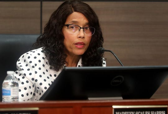 Murfreesboro's Vice Mayor Madelyn Scales Harris asks a question about the proposed Murfreesboro Tax increase before voting during the City Council meeting on Thursday, June 13, 2019. She initially voted against the increase on first reading but changed her stance on the final vote.