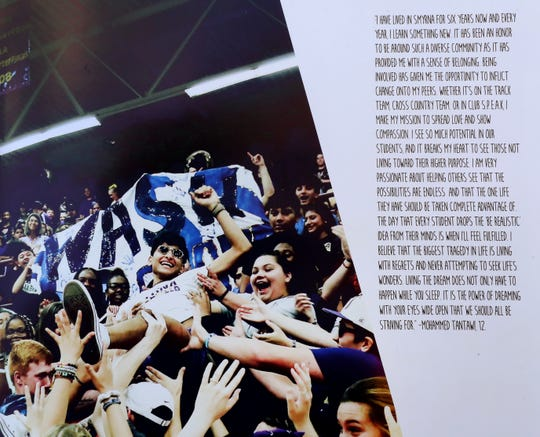 "The 2019 Smyrna High School graduate Mohammad ""Mo"" Tantawi's senior quote was featured in the school's year book next to a photo of him crowd surfing at a school pep rally."