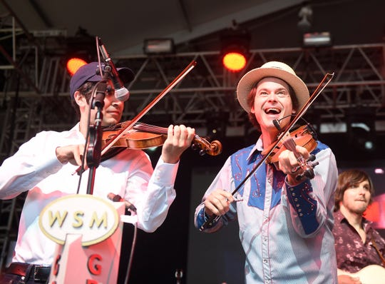 Ketch Secor of Old Crow Medicine Show perform at Grand Ole Opry on Thursday during the Bonnaroo Music and Arts Festival in Manchester, Tenn.