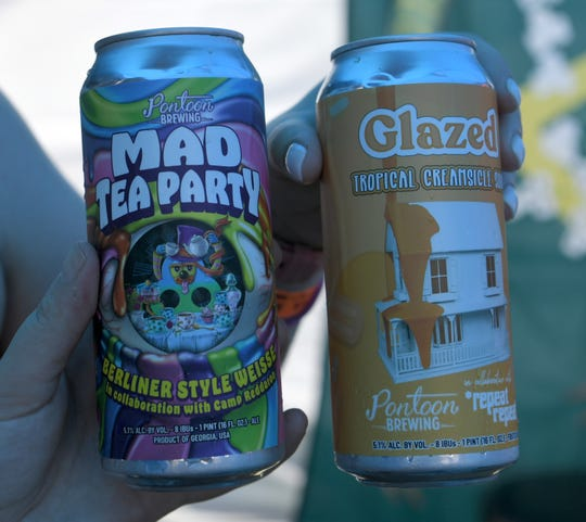 Two unique music-beer collaborations appeared a Bonnaroo Music and Arts Festival on Friday, June 14 in Manchester, Tenn. The creations, courtesy of Pontoon Brewing, include 'Glazed' (a sour for Nashville band *repeat repeat) and Mad Tea Party (made specially for Camp Reddaroo, one of the largest group camps at Bonnaroo and organizers of the campground craft beer exchange.)