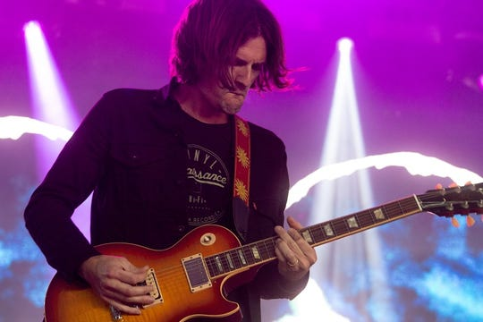 All Them Witches guitarist Ben McLeod performs at This Tent at Bonnaroo June 13, 2019 in Manchester, Tenn.