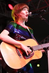Singer-guitarist Molly Tuttle is the first guest at the Grand Ole Opry's Bonnaroo appearance June 13, 2019 in Manchester, Tenn.