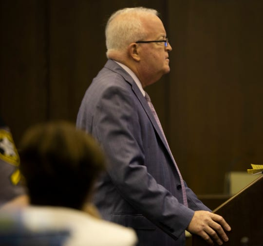 Defense attorney Lee Hollander speaks to a jury during closing arguments of a jury trial at the Collier County Courthouse on June 14, 2019. Hollander represented Pedro Silva-Diaz who was accused of leaving the scene of a crash that killed a 13-year-old boy in 2017.
