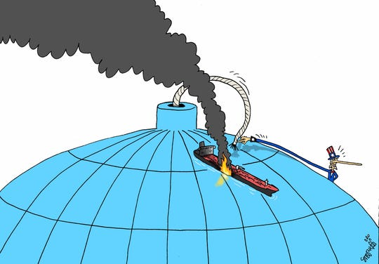 Oil tanker as global bomb