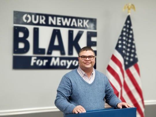 Jeremy Blake candidate for mayor of Newark