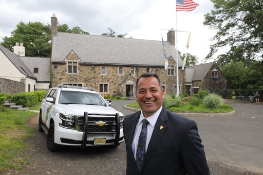 The new Palisades Interstate Parkway Police Chief is Steve Shallop outside police headquarters in Alpine on June 14, 2019. Shallop worked with the New Jersey State Police from 1989-2018.