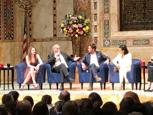 The cast of Shtisel discussing the show at a recent sold out event panel